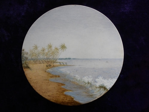 "Hand Painted Plaque ""Fishing Off Coramandel Coast"""