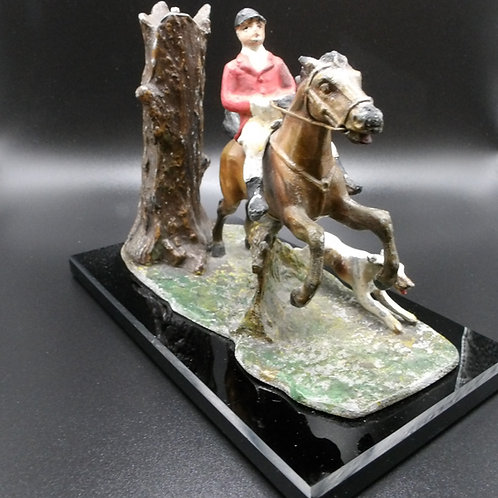 1930s Cold Painted Spelter Table Lighter