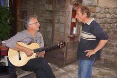 Avec le luthier Thierry Haclin