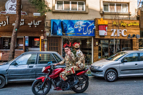 American influence on Esfahan street