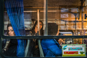 Woman's section of public bus, Shiraz