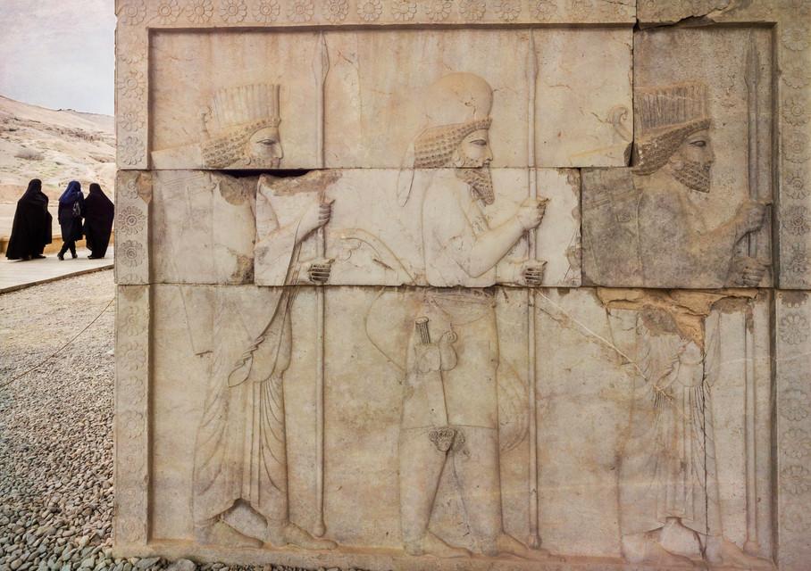 Groups of three, Persepolis