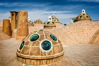 Roof of bath house, Kashan