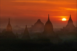 misty sunrise to print