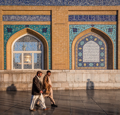 Outside Fatima Masumeh Mosque, Qom