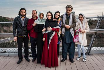 Afghan family visiting Tehran