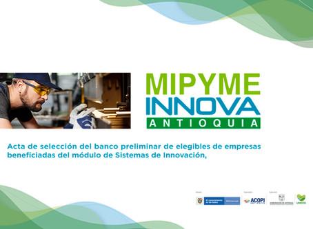 Resultados selección empresas elegibles MiPyme Innova