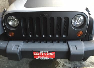 MakerMobile 101!  Jeep Mods Part 1:  Grille Guard & Blackout