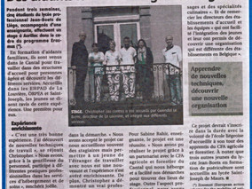 Des aidants familiaux belges en stage