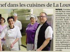 Un chef dans les cuisines de La Louvière