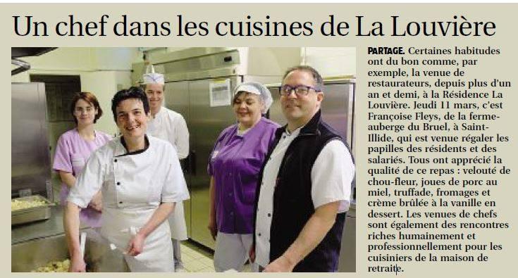 Nouvelle venue d'un chef à La Louvière, EHPAD à Aurillac-Cantal