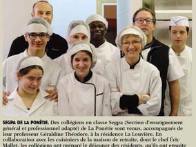 Les collégiens à La Louvière