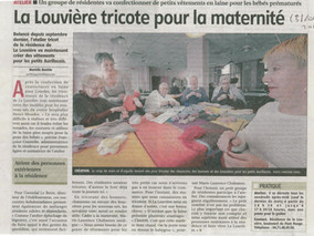 La Louvière tricote pour la maternité