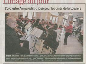 L'orchestre Annycroch's a joué pour les aînés de la Louvière