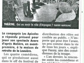 Arpagon n'est pas avare de théâtre pour les résidents