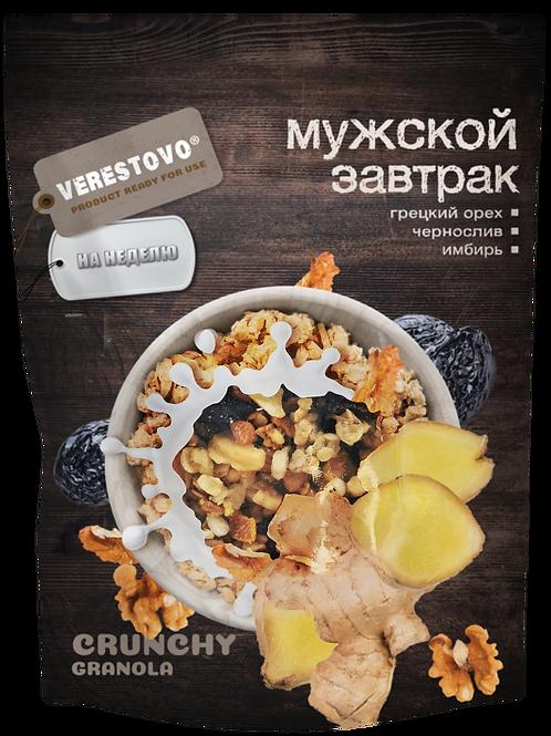 Crunchy Granola Verestovo Male breakfast: Walnut, prunes, ginger