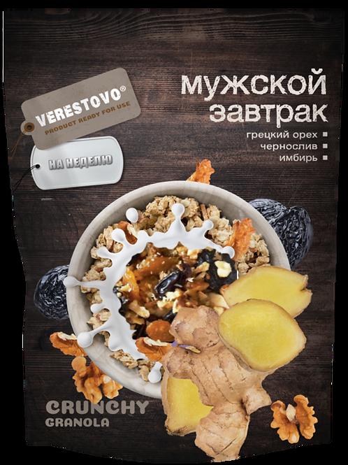 Кранчи Гранола Verestovo Мужской завтрак: Грецкий орех, чернослив, имбирь