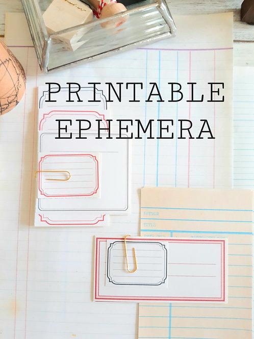 Printable Vintage ephemera, junk journal ledger, INSTANT DOWNLOAD