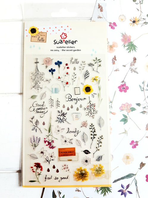 SUATELIER STICKERS - no. 1024 - the secret garden
