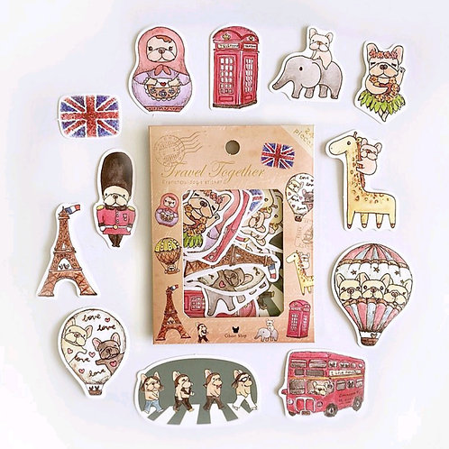 Ghost Shop - Cute Stickers - Travel together - 24 pieces