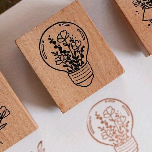 Light - Botanical -  Rubber Stamp - Loi Design