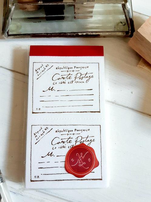 OURS Letterpress Label Book - Vintage Postcard