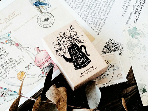 Botanic Rubber Stamp - but first coffee