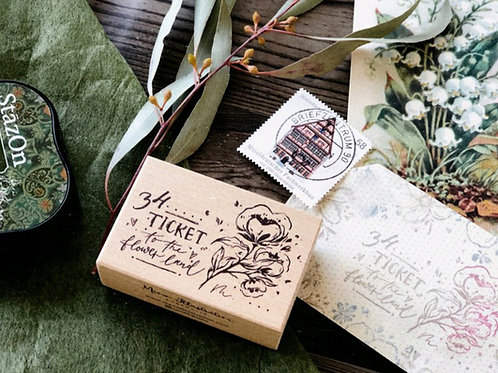 Ticket to the flower land - Rubber Stamp - Meow Illustrations