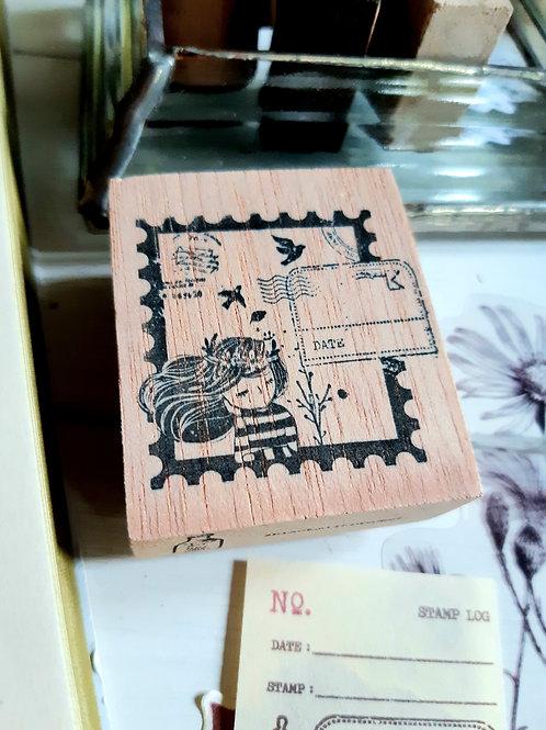 Rubber Stamp - Original Black Milk Project - Postal Daydream