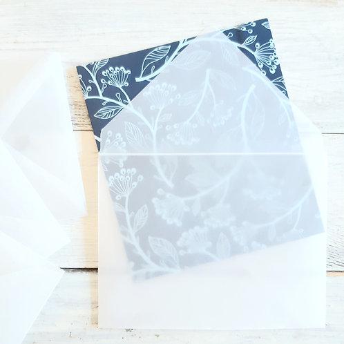 Vellum envelopes, Pack of 5, stationery