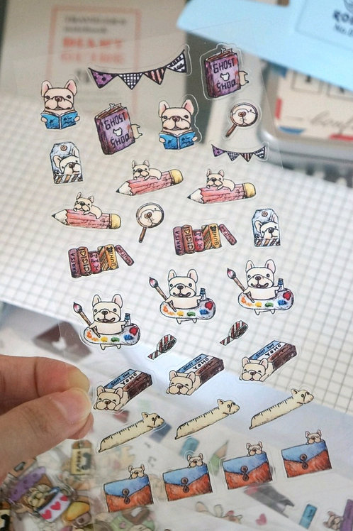 Ghost Shop - Transparent Cute Stickers - Stationery - 24 pieces
