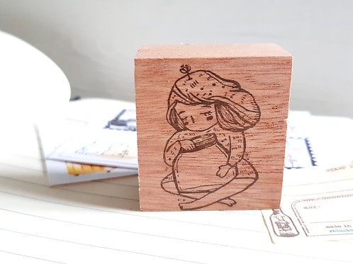 Rubber Stamp - Original Black Milk Project -  My Little Jar