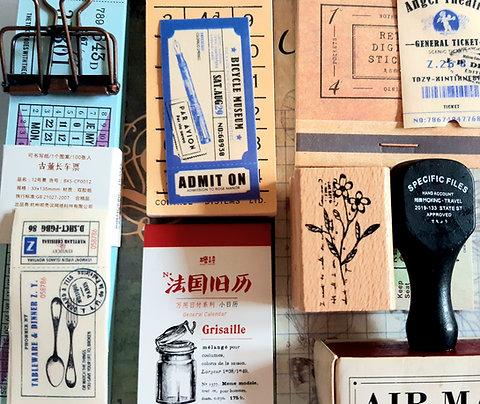 Vintage Journaling Set, vintage ephemera,