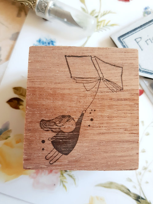 Rubber Stamp - Original Black Milk Project - Flying Book