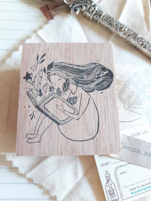 Rubber Stamp - Original Black Milk Project - Magical Book