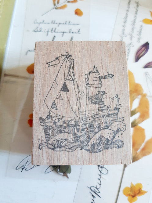 Rubber Stamp - Original Black Milk Project - Adventure