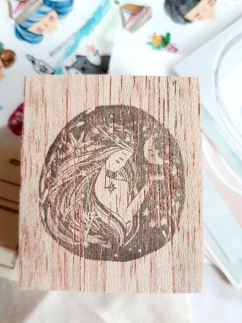 Rubber Stamp - Original Black Milk Project - Moon Lady