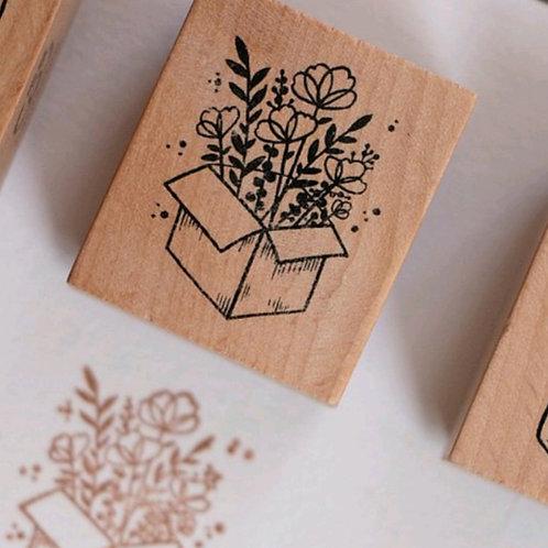 Box - Botanical -  Rubber Stamp - Loi Design