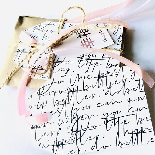 Calligraphy Hang Tags - Pack of 10