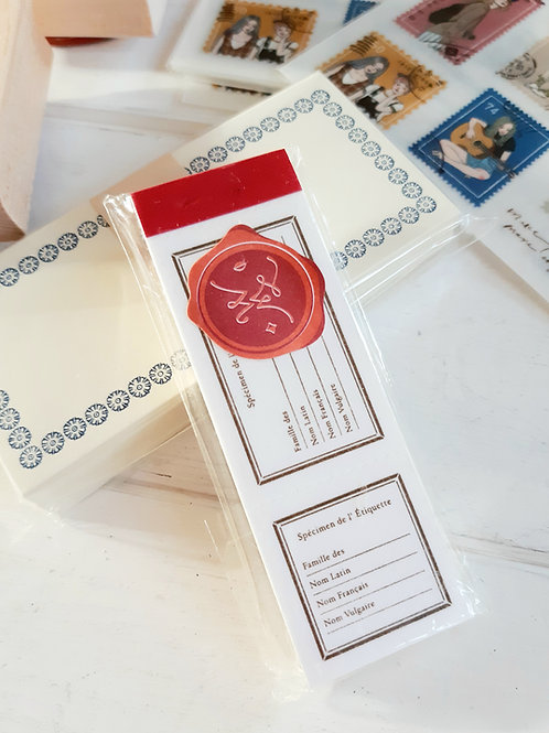 OURS Letterpress Label Book - Specimen label