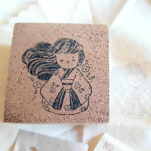 Rubber Stamp - Original Black Milk Project - Miko