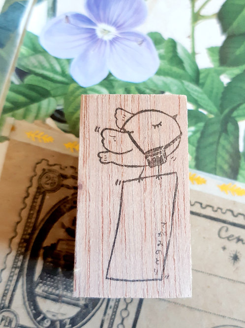 Rubber Stamp - Original Black Milk Project - Mail Bird