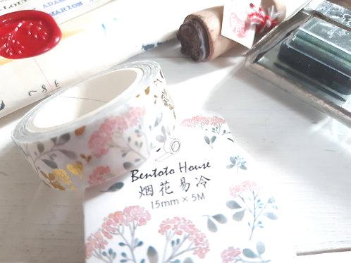 Delicate flowers Washi Tape - masking tapeShipping