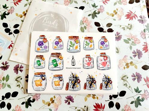 MINI JARS - Stickers - Black Milk Project
