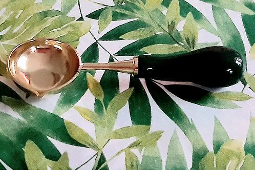Wax Seal Spoon - Dark green handle