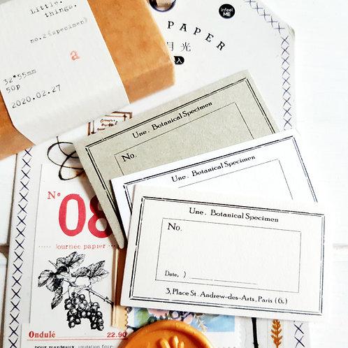 BANFAN LITTLE LABELS CARD - 50 pieces