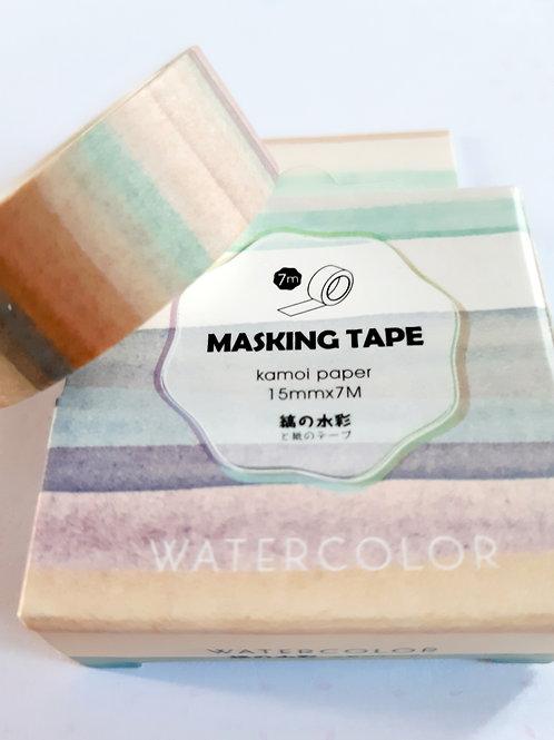 Watercolour stripes washi tape