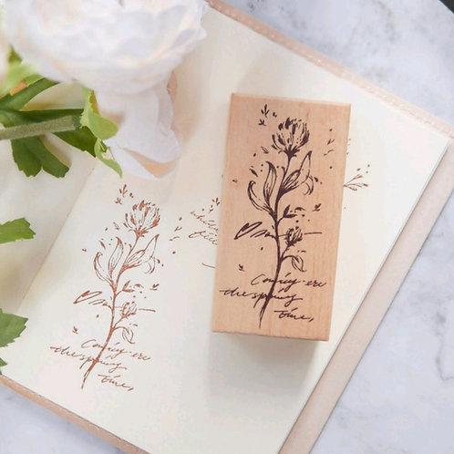 Botanical Decorative Rubber Stamp - Meow Illustrations