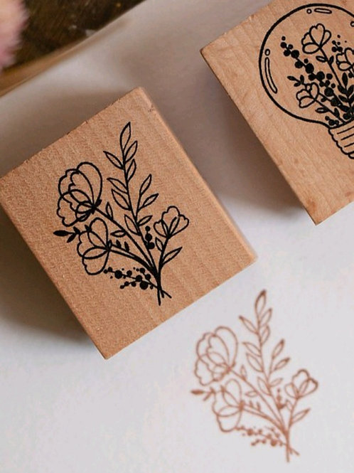 Fully - Botanical -  Rubber Stamp - Loi Design