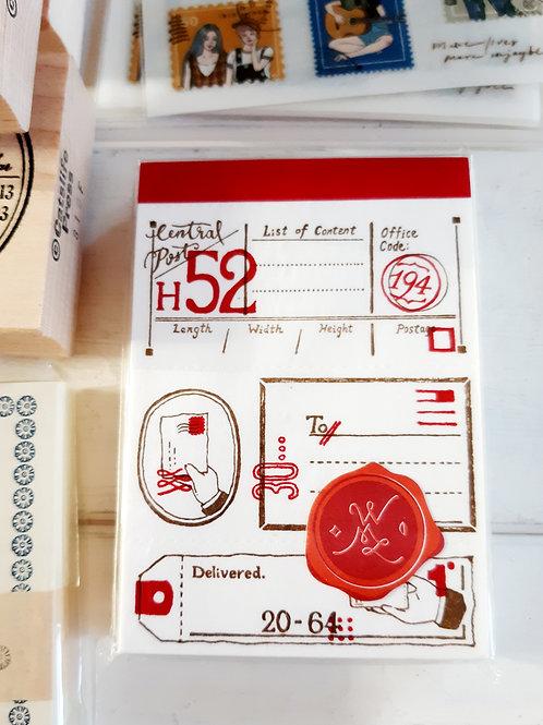 OURS Letterpress Label Book - Postal